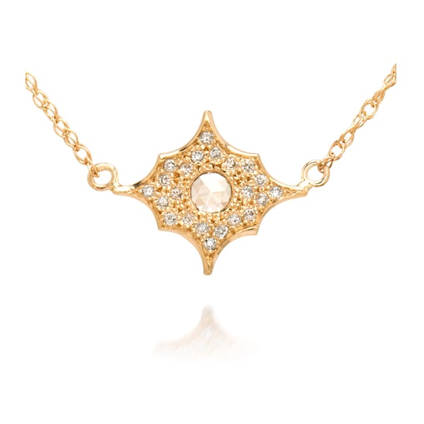 1cfe179303e97 Celestial Pendant with Rose Cut & Pave Diamonds - Just Jules